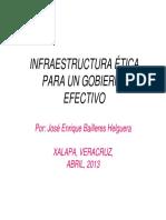Infraestructura Ética Para Un Gobierno