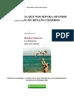 La Distancia Que Nos Separa (Spanish Edition) by Renato Cisneros Download eBook _ La Distancia Que Nos Separa (Spanish Edition) by Renato Cisneros PDF (1)
