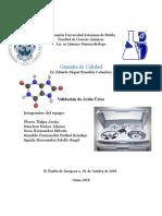 Validación Acido Urico