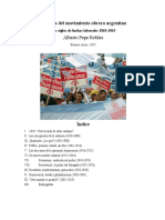 Alberto Pepe Robles Historia Del Movimiento Obrero Argentino 1810 2015