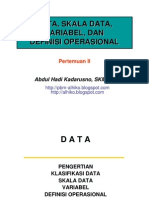 Statistik Kesehatan - Pertemuan II- Stikes WH- 2010 -Data-Variabel-DO