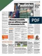 La Gazzetta Dello Sport 12-10-2018 - L'Intervista Paulinho