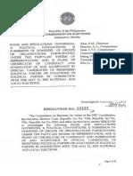 Comelec Resolution no.10420