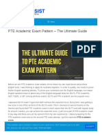 Ultimate Guide to PTE Academic Exam