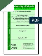 A Feasibility Study and Viability Appraisal PDF