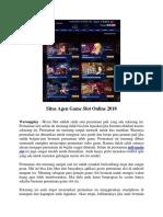 Situs Agen Game Slot Online 2018 - WARUNGPLAY.BIZ