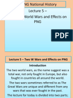 Lecture 5 - The Two World Wars in PNG BY YAMSOB MOSES