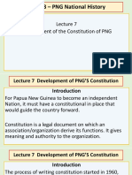 Lecture 7 - Development o f the Constitution of PNG BY YAMSOB MOSES