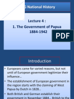 Lecture 4 - 1. the Govt of Papua - 1884 -1946 BY YAMSOB MOSES
