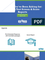 GED Changes You Asked for the RLA Test Screen Score Reports