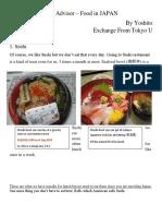 Trip Advisor – Food in JAPAN