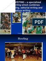 Sports Writing Latest