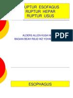Kuliah Ruptur Esofagus, Hepar, Usus.ppt