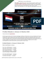 Prediksi Bola Belanda vs Jerman