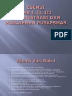 Esensi Bab 1_ 2_ 3 Administrasi dan Manajemen Puskesmas.pptx