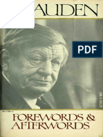 w h Auden Forewords and Afterwords
