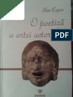 Ion Cojar o Poetica a Artei Actorului
