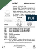 ELCOMETER 106 Adhesion Tester Manual