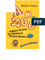 A to Zoo - Subject Access to Children's Picture Books, 10th Edition