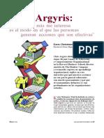 Chris Argyris - Conversaciones Transparentes vs Rutinas Defensivas