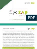 Fipezap 201808 Residencial Locacao
