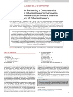 Guidelines for Performing a Comprehensive TTE Examination in Adults