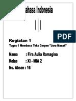 B. Indonesia - Cerpen Juru Masak.docx