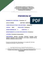 Programa Periodismo IV