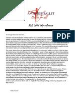 fall 2018 news letter