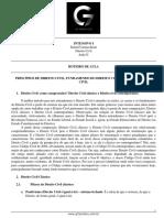 Roteiro de Aula - Aula 01 - Principios de Direito Civil, Fundamento Do Direito Civil e Personalidade Civil