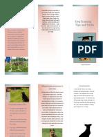 dog trianing brochure finished pdf