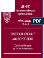 EC-514 - Resistencia Residual, Análisis Post-Sismo