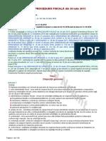Codul de Procedură Fiscală Din 20 Iulie 2015
