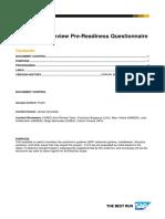 ARI.065 ArchitectureReview PreReadinessQuestionnaire