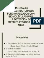 Materiales Nanoestructurados Funcionalizados Con Biomoléculas Para La Detección
