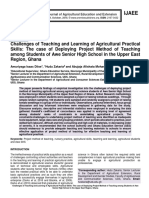 Challenges of Teaching and Learning of Agricultural Practical Skills