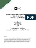 Minimizing Recip Compressor Costs