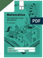 Cuadernillo Entrada1 Matematica 2do Grado