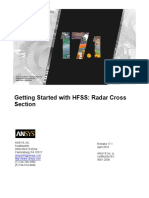 HFSS Radar Cross Section