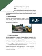 Obras Preliminares y Excavaciones
