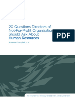 20 Questions Directors of NotforProfitOrganizations Should Ask about Human Resources