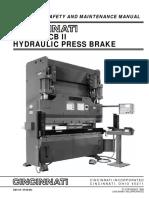Em 419 r 08-96-90 350 Cb II Hydraulic Press Brake Operation Safety and Maintenance Manual