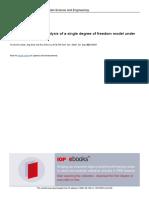 Dynamic Response Analysis of a Single Degree of Fr