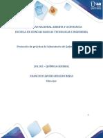 Protocolo de práctica de laboratorio de Química General