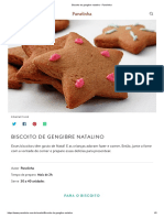 Biscoito de Gengibre Natalino - Panelinha