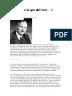 A Democracia Que Defendo - F. Hayek