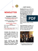 Moraga Rotary Newsletter Oct 9 2018