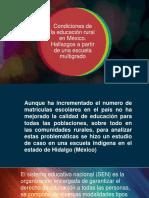 Condiciones de La Educación Rural en México