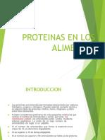 Proteínas en Alimentos