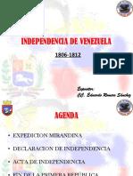 Independencia de Venezuela 1806 1812